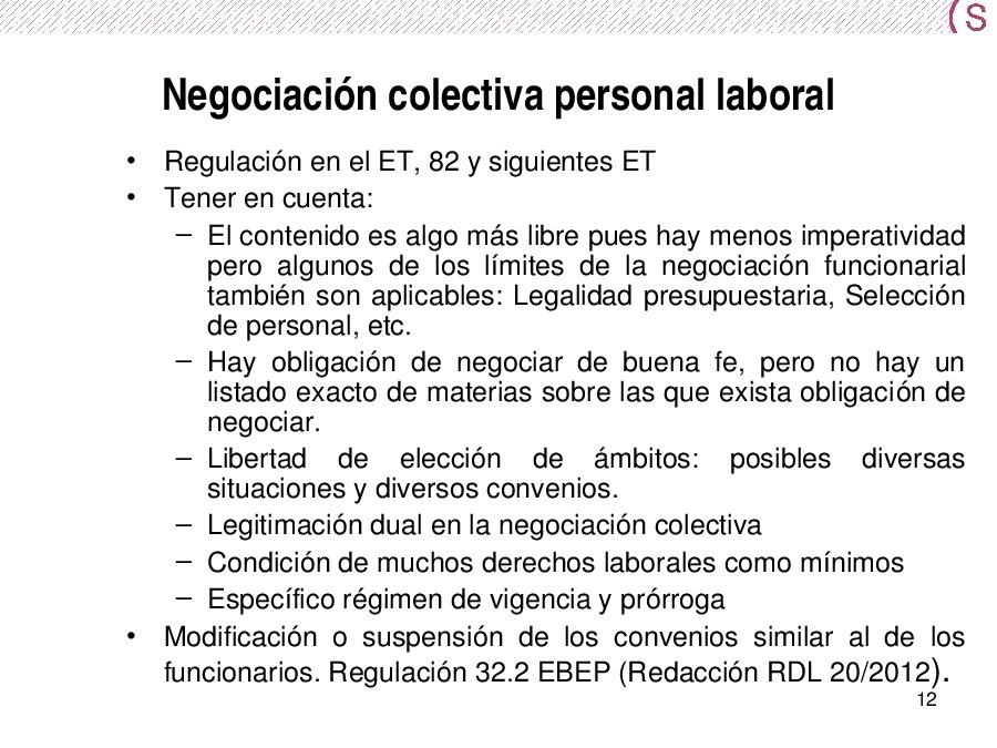 A negociación colectiva no emprego público: unha mirada actualizada